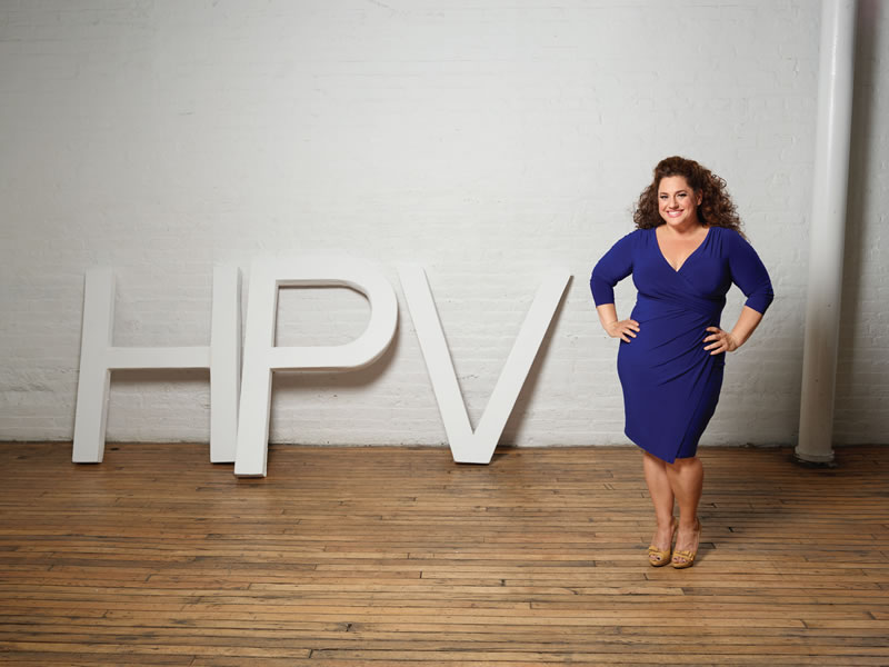 Celebrity Big Brother winner and Broadway star Marissa Jaret Winokur wants you to Think About the Link® between HPV and cancer