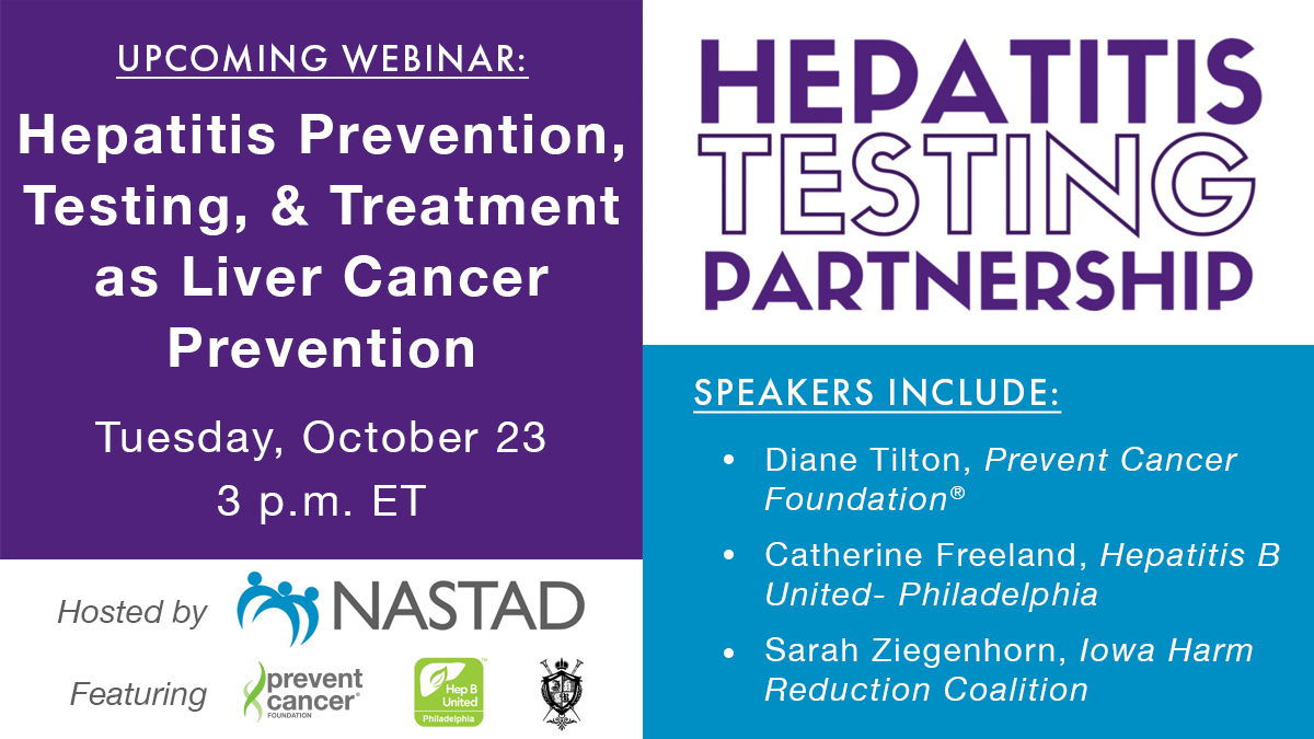 Webinar: Hepatitis Prevention, Testing, and Treatment as Liver Cancer Prevention