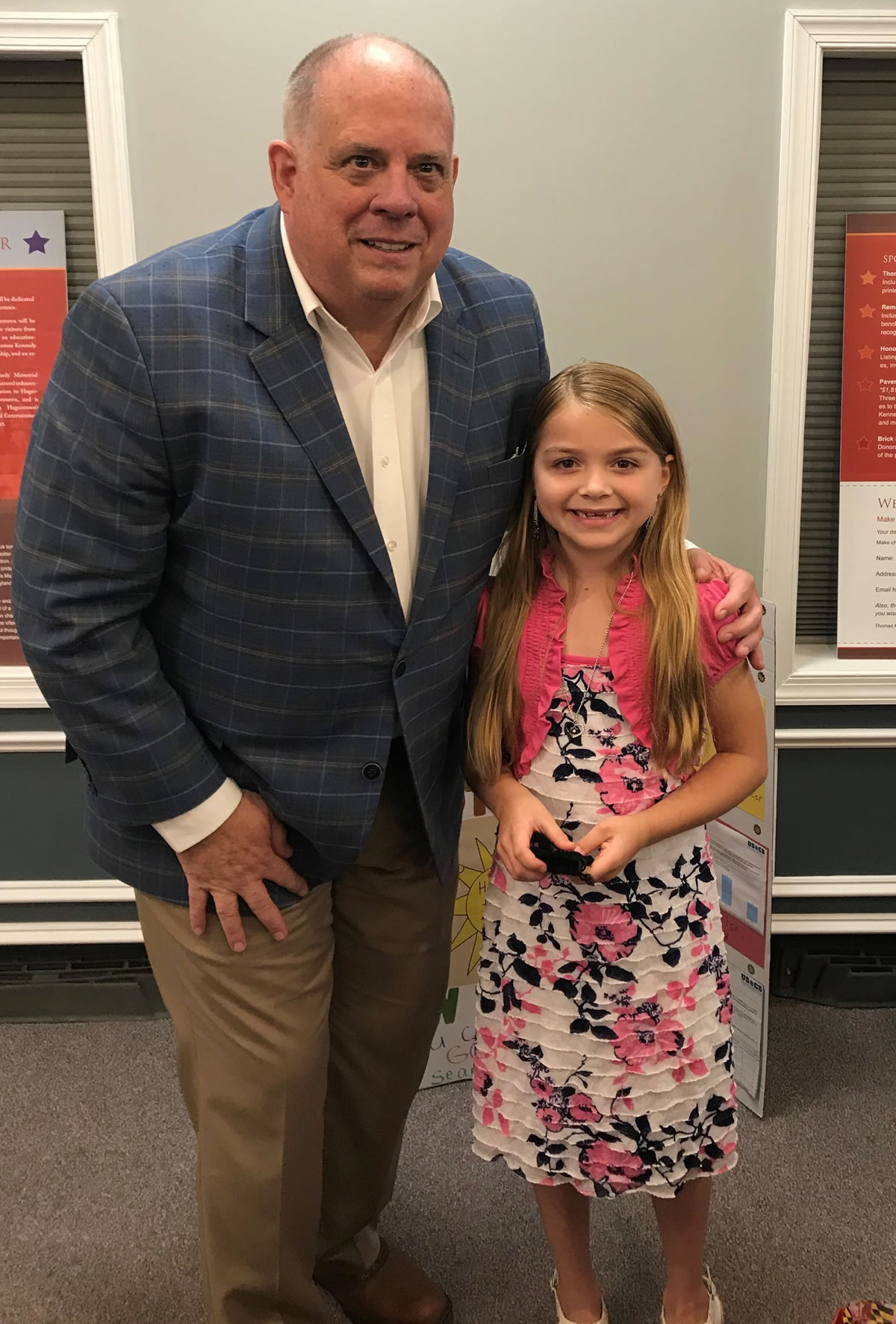 Molly with Maryland Governor Larry Hogan