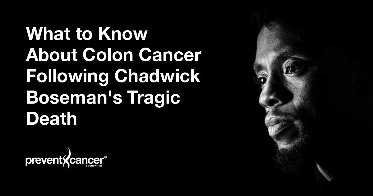 The Weekly Chadwick Boseman Colon Cancer And More Prevent Cancer Foundation