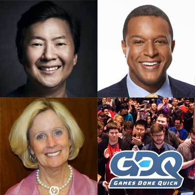 Actor Producer Ken Jeong Today News Anchor Craig Melvin Charitable Gaming Organization Games Done Quick And Congressional Spouse Terry Loebsack To Be Honored At Congressional Families Program Virtual Awards Prevent Cancer Foundation