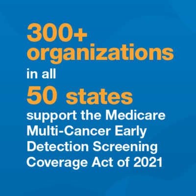 Image for Prevent Cancer Foundation leads more than 300 organizations in support of the Medicare Multi-Cancer Screening Coverage Act of 2021