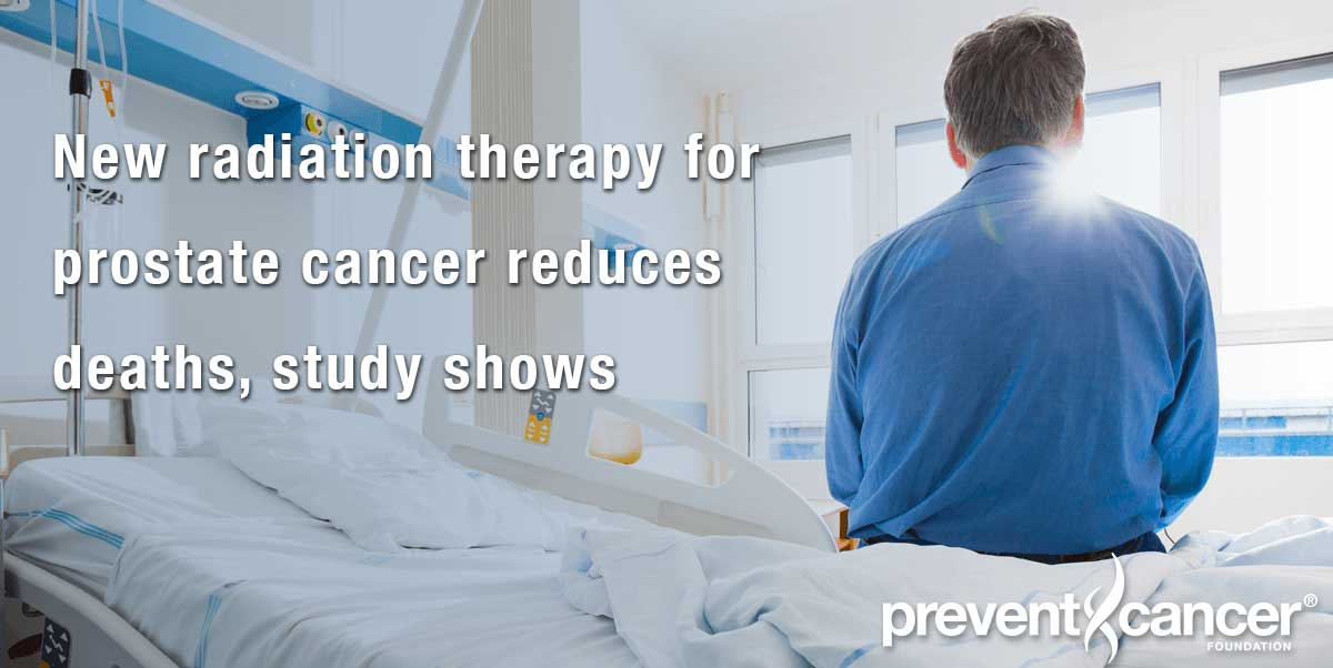 New radiation therapy for prostate cancer reduces deaths, study shows