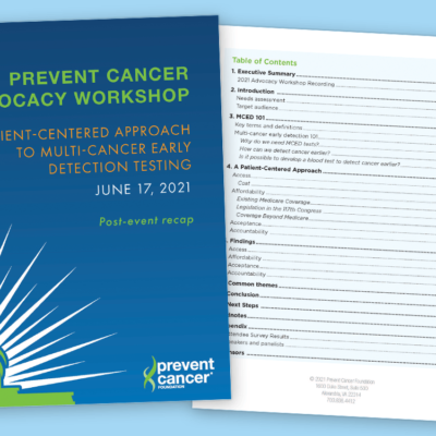 Image for Prevent Cancer Foundation promotes a patient-centered approach to save lives